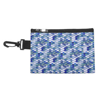 Mermaid Blue Skin Pattern Accessory Bag