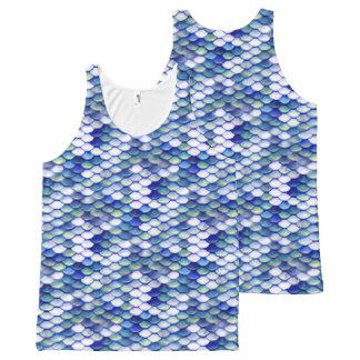 Mermaid Blue Skin Pattern All-Over-Print Tank Top