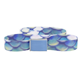 Mermaid Blue Skin Pattern Belt