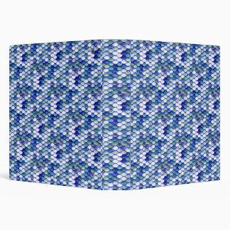 Mermaid Blue Skin Pattern Binders