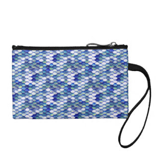 Mermaid Blue Skin Pattern Coin Purse
