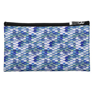 Mermaid Blue Skin Pattern Cosmetic Bag