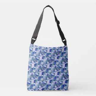 Mermaid Blue Skin Pattern Crossbody Bag
