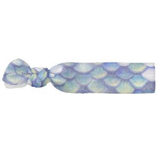Mermaid Blue Skin Pattern Hair Tie