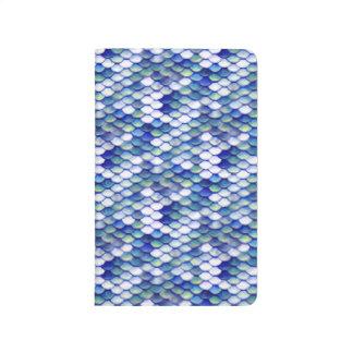Mermaid Blue Skin Pattern Journal