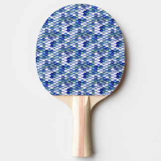 Mermaid Blue Skin Pattern Ping Pong Paddle