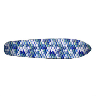 Mermaid Blue Skin Pattern Skateboard Deck