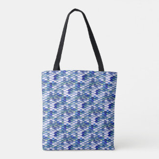 Mermaid Blue Skin Pattern Tote Bag