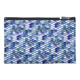 Mermaid Blue Skin Pattern Travel Accessory Bag