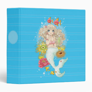 Mermaid (blue) vinyl binders