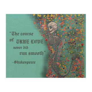 Mermaid Bones & Quote - Wood Pl Wood Print