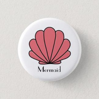 Mermaid bottom 1 inch round button