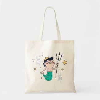 Mermaid Boy Young Merman Tote Bag