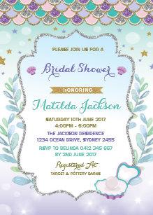 Under the sea bridal shower invitations announcements zazzle ca mermaid bridal shower invitation beach ocean party filmwisefo