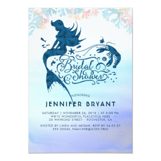 Mermaid Bridal Shower Under The Sea of Love Card