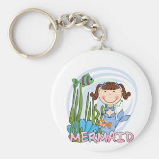 Mermaid - Brunette Tshirts and Gifts Keychain