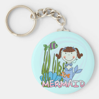 Mermaid - Brunette Tshirts and Gifts Key Chains