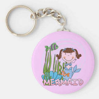 Mermaid - Brunette Tshirts and Gifts Key Chain