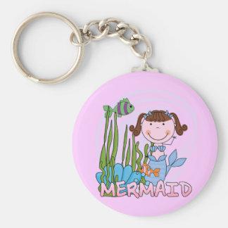 Mermaid - Brunette Tshirts and Gifts Key Chain