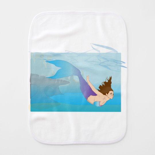 Mermaid Burp Cloth