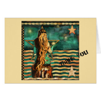 Mermaid by the Sea Thank You note. Beachy! Card