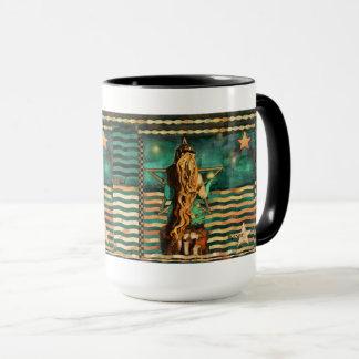Mermaid by the Sea with Moon and Stars Mug