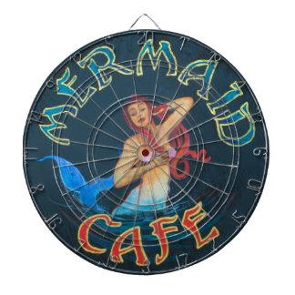 Mermaid Cafe Sign Dartboard