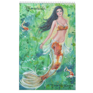 Mermaid calendar fantasy portraits by Renee Lavoie