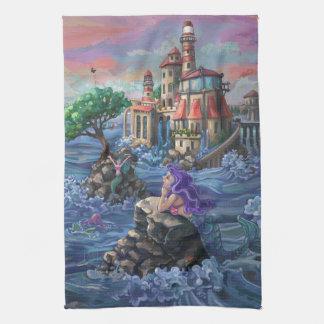Mermaid Castle Kitchen Towel