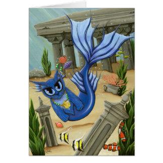 Mermaid Cat Atlantis Mercat Fantasy Art Card