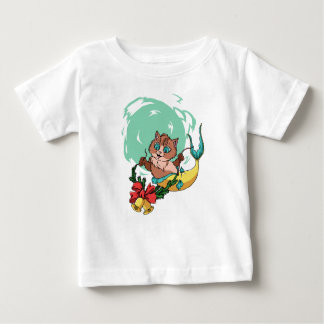 Mermaid Cat With Christmas Garland Baby T-Shirt