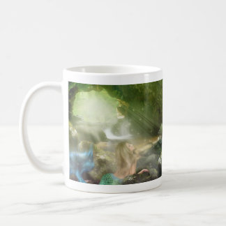 Mermaid Cave Basic White Mug