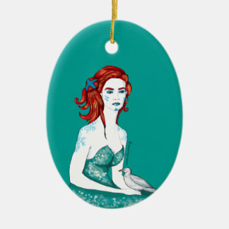 Mermaid Ceramic Ornament