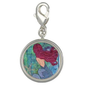 Mermaid Charm, Pink haired Mermaid, Ocean Charm