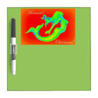 mermaid christmas dry erase board