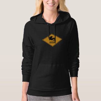 Mermaid Crossing Sign Hoodie