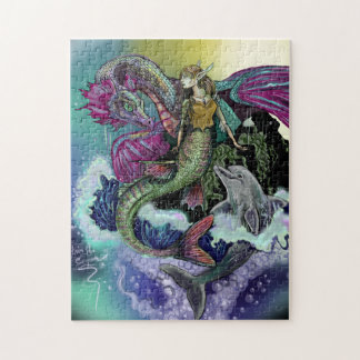 Mermaid, Dragon,&Dolphin Jigsaw Puzzle