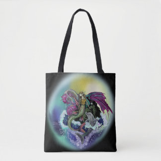 Mermaid, Dragon,&Dolphin Tote Bag