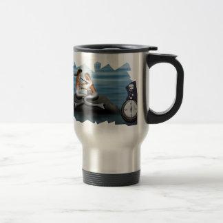 Mermaid drawing a mermaid travel mug