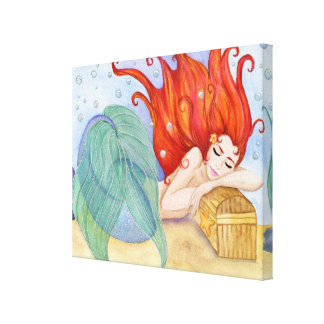 "Mermaid Dreams Canvas Wrap (.75"" width thickness)"
