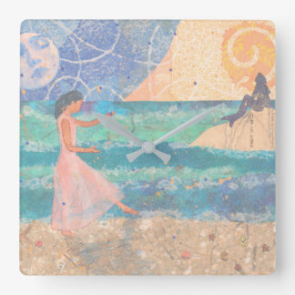 Mermaid Dreams Wall Clock