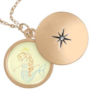 Mermaid Fairy Locket Necklace