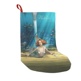 Mermaid Fantasy Christmas Stocking