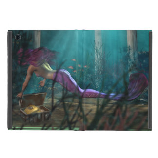 Mermaid Fantasy Golden Treasure Undersea iPad Mini Covers
