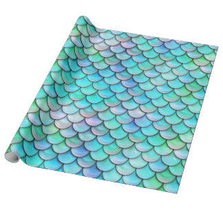 mermaid fish scale pattern wrapping paper