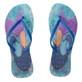 Mermaid Flip Flops Slim Straps