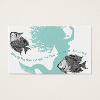 Mermaid Flow and Fish Business Card