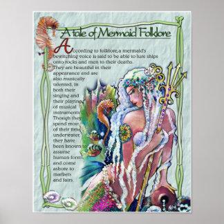 Mermaid Folklore POSTER
