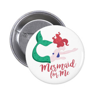 Mermaid For Me 2 Inch Round Button