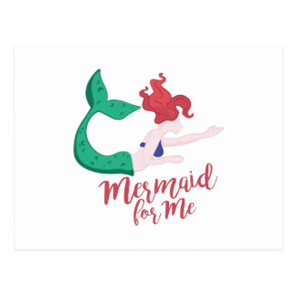 Mermaid For Me Postcard